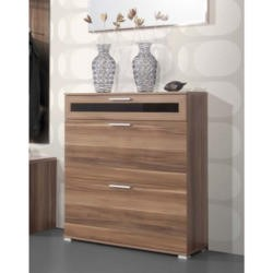 Alaska Shoe Cabinet in Walnut - 16 Pairs