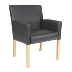 Teknik Office Zara Leather Faced Reception Chair