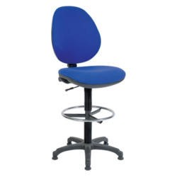 Teknik Office Bayron Draughtsman Chair - blue