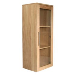 Alphason Designs Oakwood Glazed Bookcase