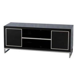 Seconique Charisma High Gloss TV Cabinet in Black