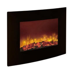 Be Modern Quattro Electric Fire in Curved Black Glass