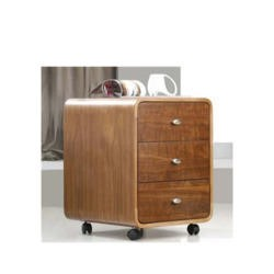Jual Furnishings Nida 3 Drawer Office Storage Chest in Walnut ND201