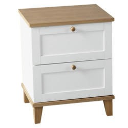 Seconique Arcadia Ash 2 Drawer Bedside Table