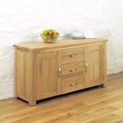 Baumhaus Aston Solid Oak 2 Door 3 Drawer Sideboard