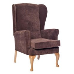 Icon Designs St Ives Fireside Armchair in Brown