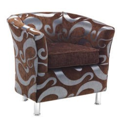 Icon Designs St Ives Tub Chair in Swirl Brown