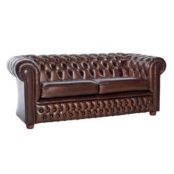 Icon Designs St Ives Windsor Leather 3 Seater Sofa in Brown