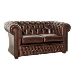 Icon Designs St Ives Windsor Leather 2 Seater Sofa in Brown