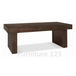 Bentley Designs Akita Walnut Rectangular 1 Drawer Coffee Table