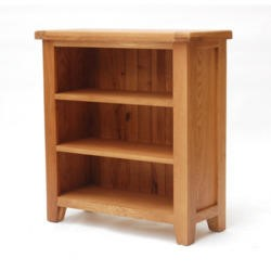 Furniture Link Hampshire Oak Low Bookcase