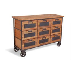 Signature North Industrial 9 Drawer Apothecary Chest