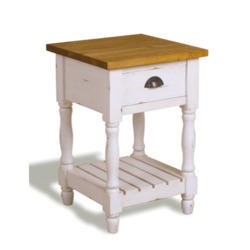 Signature North French Chic 1 Drawer Lamp Table - antique white