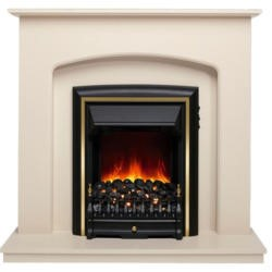 Be Modern Lusso Ivory Electric Fireplace Suite