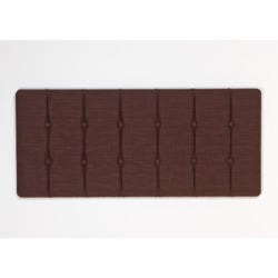 Kyoto Futons Chester Buttoned Fabric Kingsize Headboard in Chocolate