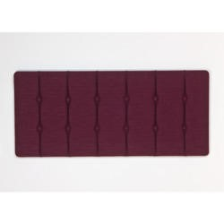 Kyoto Futons Chester Buttoned Fabric Double Headboard in Plum