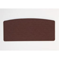 Kyoto Futons Gloucester Curved Fabric Double Headboard in Chocolate