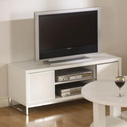 Seconique Charisma High Gloss White TV Cabinet