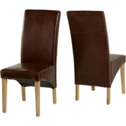 Seconique G1 Dining Chair in Mid Brown (Pair)