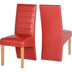 Seconique G5 Dining Chair in Rustic Red Pair