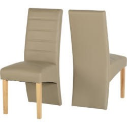 Seconique G5 Dining Chair in Taupe Pair