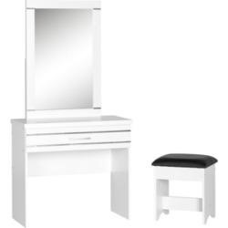 Jordan 1 Drawer Dressing Table Set in White -