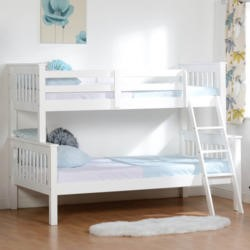 Seconique Neptune Triple Sleeper Bunk Bed in White
