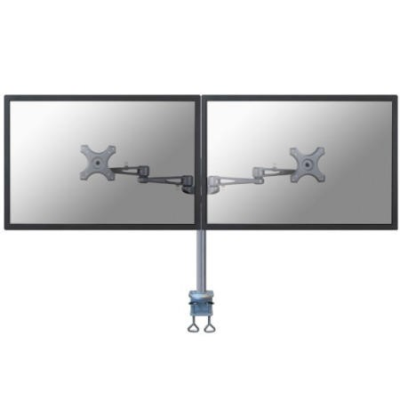 "Newstar Dual Deskmount Monitor Arm up to 26"" Silver"