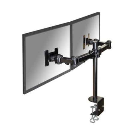 "Newstar Dual Deskmount Monitor Arm up to 26"" Black"