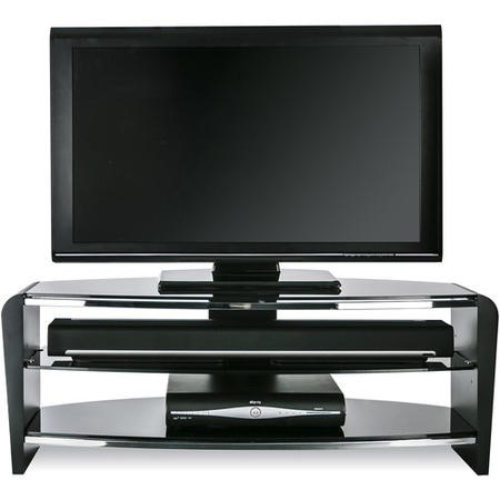 "FRN1100/3BLK/BK Alphason FRN1100/3BLK/BK Francium TV Stand for up to 50"" TVs - Black"
