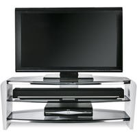Alphason FRN1100/3WHT/SK Francium 1100 Smoked Glass TV Stand