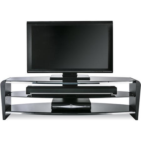 "FRN1400/3BLK/BK Alphason FRN1400/3BLK/BK Francium TV Stand for up to 60"" TVs - Black"