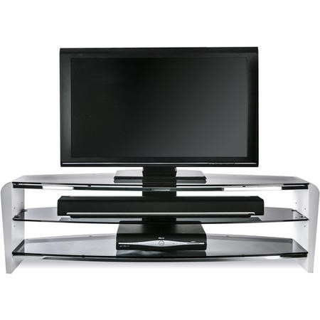 "FRN1400/3WHT/SK Alphason FRN1400/3WHT/SK Francium TV Stand for up to 60"" TVs - White"