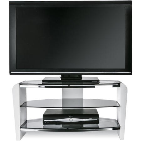 "FRN800/3WHT/SK Alphason FRN800/3WHT/SK Francium TV Stand for up to 37"" TVs - White"