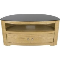 Blenheim Affinity Curved TV Stand 1100 Oak / Black Glass
