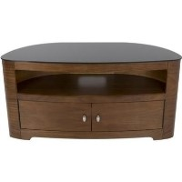 Blenheim Affinity Curved TV Stand 1100 Walnut / Black Glass