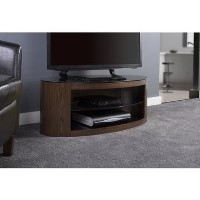 Buckingham Oval Affinity TV Stand 1100 Walnut / Black Glass