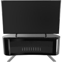 Bay Affinity Curved TV Stand 1150 Black / Black Glass