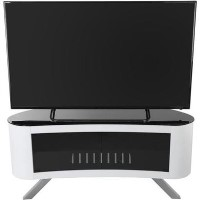 Bay Affinity Curved TV Stand 1150 Gloss White / Black Glass