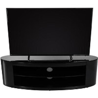 Buckingham Affinity Oval TV Stand 1400 Black / Black Glass
