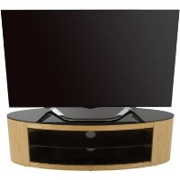 Buckingham Affinity Oval TV Stand 1400 Oak / Black Glass