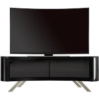 Bay Affinity Curved TV Stand 1500 Black / Black Glass