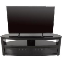 Burghley Affinity Curved TV Stand 1500 Black / Black Glass