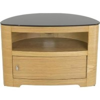 Blenheim Affinity Curved TV Stand 800 Oak / Black glass