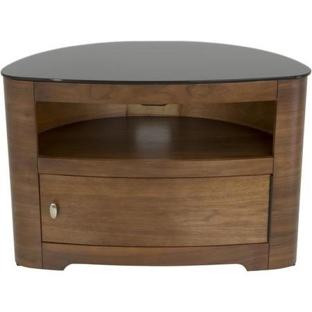 Blenheim Affinity Curved TV Stand 800 Walnut / Black glass