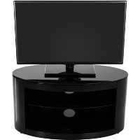 Buckingham Affinity Oval TV Stand 800 Black / Black Glass
