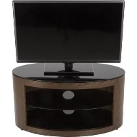 Buckingham Affinity Oval TV Stand 800 Walnut / Black Glass