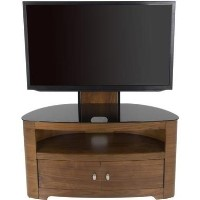 Blenheim Affinity Curved Combi TV Stand 1000 Walnut / Black Glass