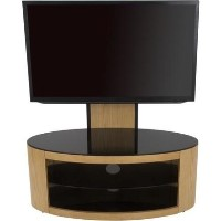 Buckingham Affinity Oval Combi TV Stand 1000 Oak / Black Glass