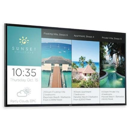 "Sony FW-65X8570C - 65"" 3D LED display with TV tuner with camera 4K UHDTV"